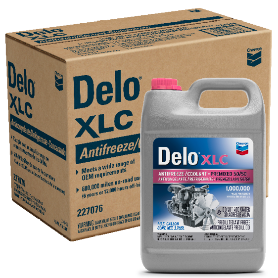 Delo XLC Antifreeze/Coolant Premixed 50/50 Gallon Case