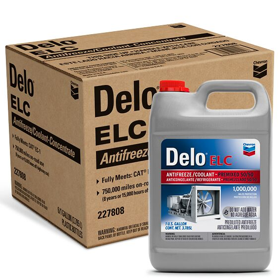 Delo ELC Antifreeze/Coolant 50/50 Gallon Case