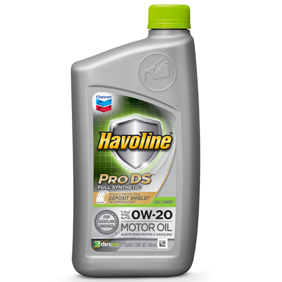 Havoline ProDS Full Synthetic Motor Oil 0W-20 Quart Case