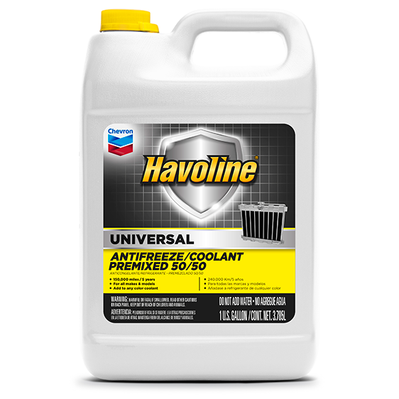 Havoline Universal Coolant Premix 50/50 Gallon Case
