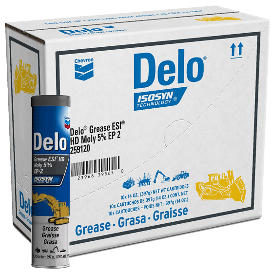Delo Grease ESI HD Moly 5% EP 2 Tube Case