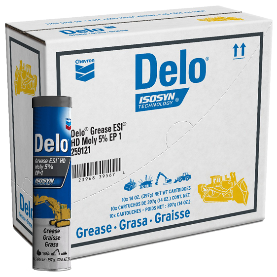 Delo Grease ESI HD Moly 5% EP 1 Tube Case